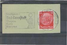 Deutsches Reich Propaganda Werbestempel BAD CANNSTATT SST WW2 Germany Stamps