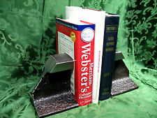LOOK!!!!!  VINTAGE  RAIL ROAD TRACK BOOKENDS / DOOR STOPS  !!!!!