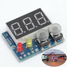 DC 0-99.9V LED Panel Digital Voltmeter Red Alarm Indicator Voltage Display Meter