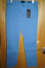 BRUNO BANINI Chino Hose blau gewaschene Optik Josh slim Fit W34 L34 Stretch
