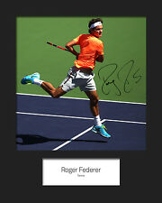 ROGER FEDERER #1 Signed 10x8 Mounted Photo Print - FREE DELIVERY