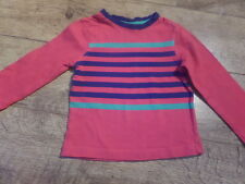 Boots miniclub Boys red, blue & green striped long sleeved top 1-1/2 years