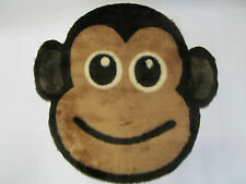 Fluffy Monkey Face Non - Slip Kids Play Mat / Rug Ideal For Nursery / Playroom