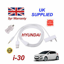 Hyundai i30 For Apple iPhone 6 6s Audio Cable & USB 1.0A Power Adapter