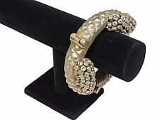 Belly Dance Bracelet - Pewter Metal Handmade Kuchi Bangle with Clasp ~ One Size