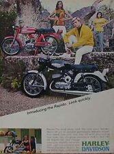HARLEY-DAVIDSON RAPIDO 125 Color Motorcycle Ad 1967