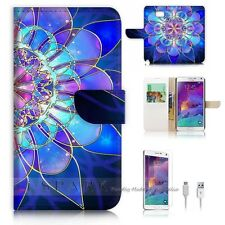 Samsung Galaxy Note 5 Flip Wallet Case Cover! S8274 Abstract