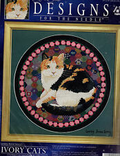 ** COUNTED CROSS STITCH KIT DESIGNS FOR THE NEEDLE #5606 IVORY CATS BECKY