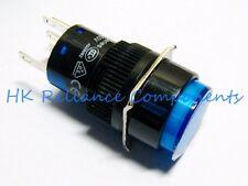 Push Button Switch LATCH ON/OFF DC24V 1A / AC220V 3A LED 12V Blue VDE App
