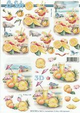 Feuille 3D à découper A4 - 8215.728 Cocktail - Decoupage Sheet Drink