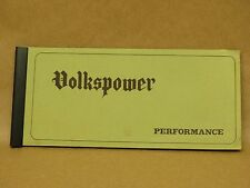 Vintage 1967 Volks Power Period Aftermarket Parts Catalog Brochure Volkswagen VW