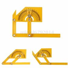 New 6'' Angle Finder Protractor Goniometer Miter Gauge Plastic Brass Fittings