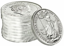 Lot of 10 - 2016 1oz British Silver Britannia .999 Fine BU
