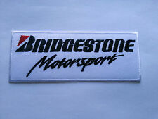 MOTORSPORTS RACING TYRE SEW ON / IRON ON PATCH:- BRIDGESTONE MOTORSPORT (f)