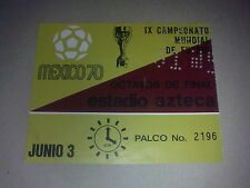 Ticket Belgium - Salvador 1970 World Cup Mexico