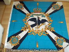Fahnen Flagge Standarte Blau mit Kreuz Preußen Premium - 150 x 150 cm
