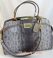 NWT COACH 30237 Madison EMBOSSED LIZARD LEATHER SATCHEL Hand Bag Silver $758