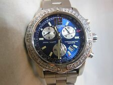BREITLING COLT CHRONOGRAPH II 44MM, SWISS ORIGINAL, MINT, WITH GENUINE DIAMONDS