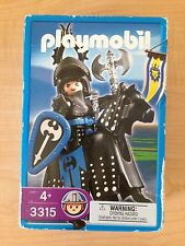Vintage Playmobil 3315 Medieval Castle Black Knight with Horse NEW MISB 2003