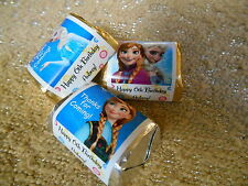 GLOSSY DISNEY FROZEN PERSONALIZED HERSHEY NUGGET WRAPPERS BIRTHDAY PARTY FAVORS