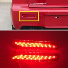 Rear Bumper Red LED Reflector tail Light For MITSUBISHI Lancer Sedan 2008-2016