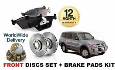 FOR MITSUBISHI PAJERO 3.2 IMPORT 1999-2006 FRONT BRAKE DISCS SET + DISC PADS KIT
