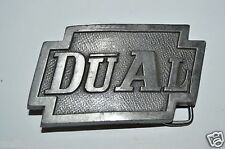 WOW Vintage DUAL Phono Germany Record Players Electronics Belt Buckle Rare