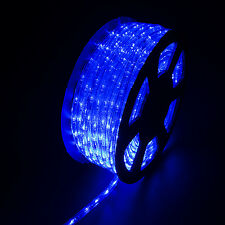 100FT LED Rope Light Home Indoor/Outdoor Christmas Decorative Party Blue 110V
