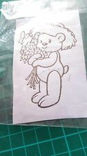 Clear Stamp- Teddy with Flowers