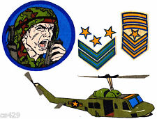 "4""  G.I.JOE ARMY AIRPLANE PLANE VINTAGE CHARACTER WALL SAFE FABRIC DECAL CUT OUT"