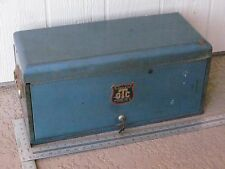 Vintage Owatonna OTC Toolbox w/ Key Minnesota 3 Drawer Tool Box Case Chest RARE