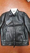 NWB $$5980 DSQUARED2 LEATHER + SHEARLING LINED BIKER JACKET 42 MADE IN ITALY