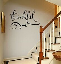 THANKFUL decal Vinyl Lettering Wall decals words quotes sticker home family art