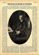 E. von Steinhagen Beim Herzog von Hatzfeld zu Trachtenberg Memorabile von 1900