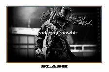 * SLASH * LARGE SIGNED AUTOGRAPH PHOTO POSTER PRINT. LOOKS GREAT FRAMED.