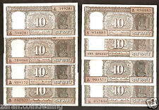 10 Rs India All governors Boat Signature Set - 8 Pieces @Uncirculated Condition
