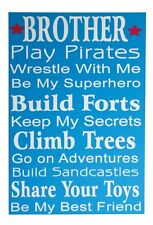 Adorable Cute Fun For Childrens Wall Deco Brother Friend Wooden Mdf Sign