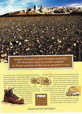 PUBLICITE ADVERTISING 074  1992  TBS chaussures  randonnée désert JACQUES LANZMA
