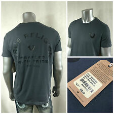 NWT $68 True Religion TR Men`s Gray CRAFTED with Pride T-shirt Short Sleeve Sz L