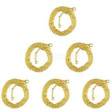 "6pcs 28"" Gold Plated Cable Open Link Iron Metal Chain Findings Jewel DIY"