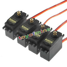 4x Digital MG995 55 High Torque Servo Robot Metal Gear RC Auto Barca Elicottero