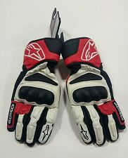 Alpinestars SP-8 Leather Street Motorcycle Gloves W/R/B Size Large