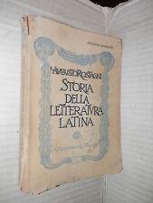 STORIA DELLA LETTERATURA LATINA Augusto Rostagni Mondadori 1936 classici latini