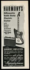 1966 Harmony silhouette electric guitar and amp photo vintage print ad