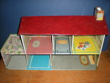 Vtg MARX Tin Doll House Cottage