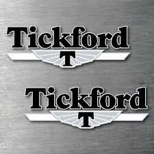Tickford black decal 4 piece sticker kit 7yr water & fade proof vinyl ford badge