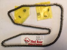 "#25-1R X 152 Links (3 feet 2"" Long Endless Loop) Roller Chain 2 Master Links"