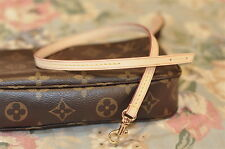 Mcraft Vachetta Leather Shoulder Strap For Monogram Damier Azur Pochette NM Mini