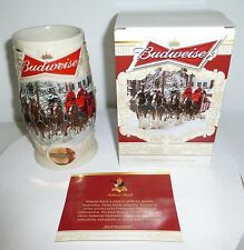 2014 Budweiser Holiday Stein - Christmas Beer Mug from Annual Series 2 YEARS AGO