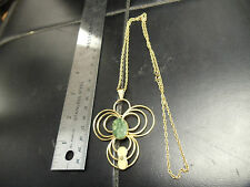 VAN DELL 12 K GF  PENDANT ON 24'' 12K GF GOLD CHAIN